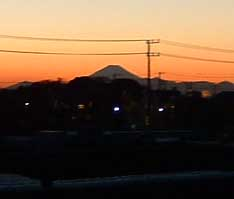 幕張本郷から見る富士山